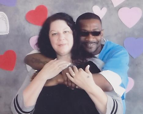 Tyrone and his wife Kristy who helped him rehabilitate during his journey behind bars.